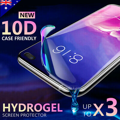 HYDROGEL Screen Protector Samsung Galaxy S10 5G S9 S8 Plus Note 10+ 8 9 S7 Edge