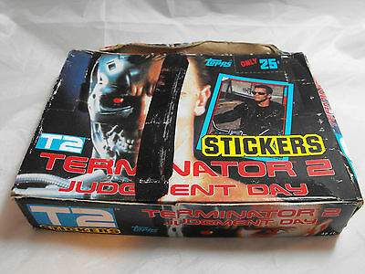 Terminator 2 1991 Trading Cards And Stickers, Complete Box Of 48 Unopened Packs.
