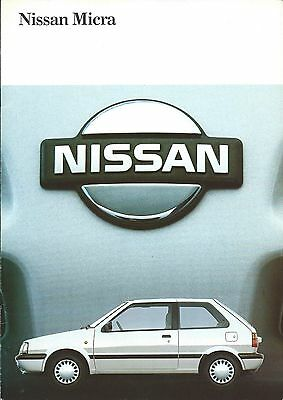 Auto Brochure - Nissan - Micra - c1989 - GERMAN language Prospekt (A1188)