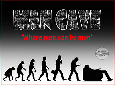 """Man-Cave """"where Men Can Be Men""""  Retro  Metal Sign Home Decor Bar Shed Gift"""