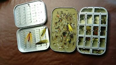 hardy brothers fly box's and unused flies