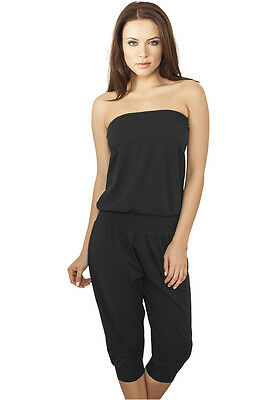 URBAN CLASSICS Tuta intera Pantaloni donna Ladies Shoulderfree Capri Jumpsuit