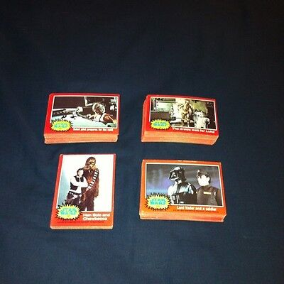 1977 Vintage Topps Star Wars 2nd Series 2 Complete 66 Red Trading Card Set NM-