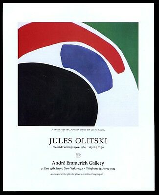 1988 Jules Olitski Sweetheart Sleep 1963 painting NYC art gallery print ad