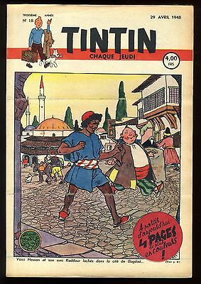 Journal de TINTIN belge  1948   n°18   Couverture de Jacques LAUDY