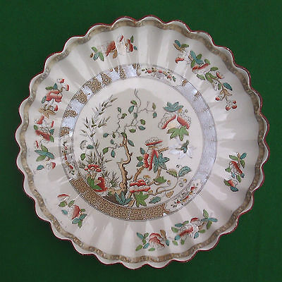 "8.5"" Copeland Indian Tree Fluted Edge Plate 1847 - 1867"