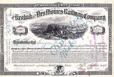 Keokuk and Des Moines RW Co. 1878 s/w