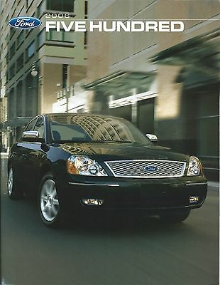 Auto Brochure - Ford - Five Hundred - 2006 - Code 06-2FIVECAT (A1197)