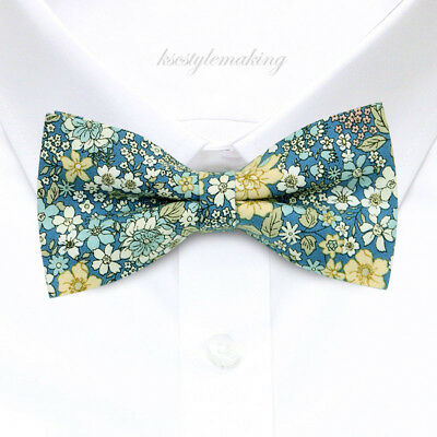 Brand New Navy and Brown Fashion Plaid Tuxedo Adjustable Bow tie for Boys B1179