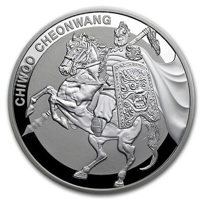 South Korea Chiwoo Cheonwang 2017 1 Oz 999 Silver Silver Coin 1 Clay 2te Edition
