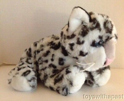 Animal Planet SNOW LEOPARD Animated Plush Light-Up Eyes Nature Sounds 2010
