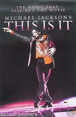 """MICHAEL JACKSON """"THIS IS IT"""" HONG KONG PROMO POSTER: M.J. Dancing With Hand Out"""