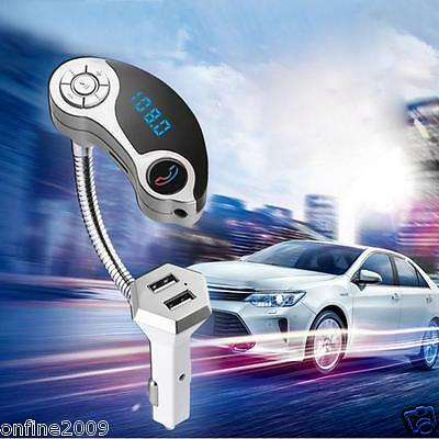LCD Car Bluetooth MP3 Player SD USB Remote FM Transmitter Modulator For Phone CA
