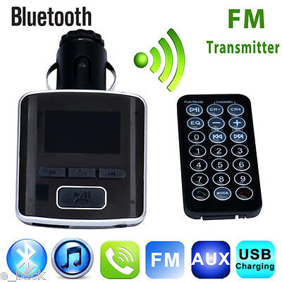 Bluetooth Dual USB Charger LCD Car Kit MP3 Player Handsfree FM Transmitter CA