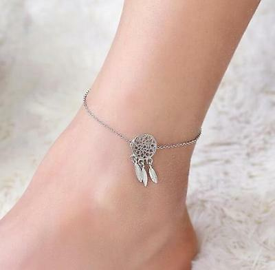 Dream Catcher Feather Ankle Chain Anklet Bracelet Foot Beach Jewelry ☆