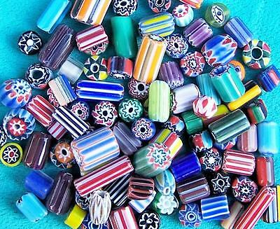 Mixed Chevron Beads, Colours & Sizes 100 Grams, Native Trade Beads Crafts