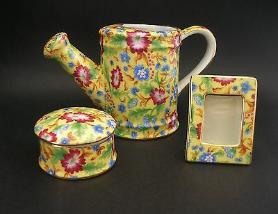 Two's Company Caroline Chintz Gift Set Watering Can Picture Frame Trinket Dish