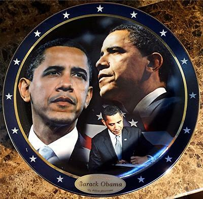 Barack Obama 44th President of the United States, My Fellow Americans Plate