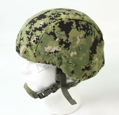 US Navy NWU Type III Helmet Cover - AOR2 Issue Green Digital MICH Kevlar Cover