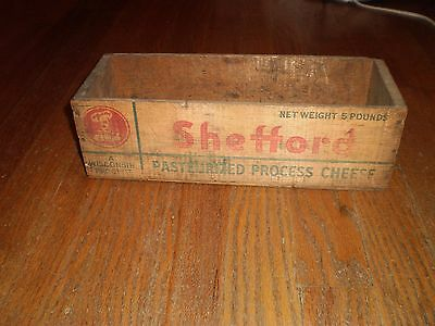 Wooden 5lbs Cheese Box, Shefford Cheese Co Green Bay, WI, Vintage