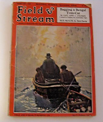 Vintage 1929 Field & Stream Hunting Fishing Back Issue Magazine ~ Estate Find