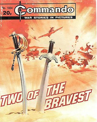 TWO OF THE BRAVEST No 1834 1984 64012 COMMANDO COMIC WAR STORIES IN PICTURES