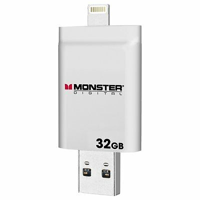 NIB Monster Digital Memory ix32 USB Drive-32 GB of a Storage - iPhone-iPad-iPod