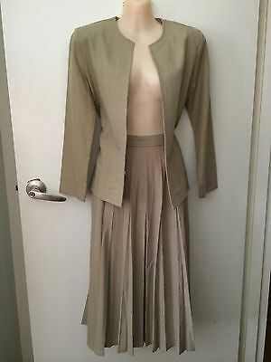VINTAGE Katies RACES outfit pleat SKIRT with jacket as NEW