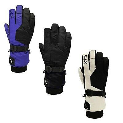 XTM Les Triomphe Ladies Winter Snow Ski Gloves Black White Purple S, M, L