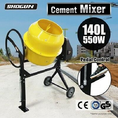 NEW 550W Powerful Motor Easy Load Drum 140L Portable Cement Concrete Mixer