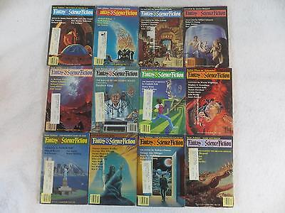 Lot of 12 MAGAZINE OF FANTASY AND SCIENCE FICTION 1984 Stephen King