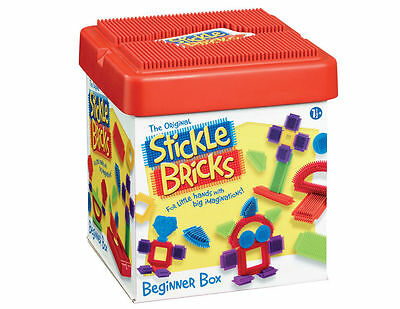 Stickle Bricks Beginner Box Kids Building Construction Set New Age 12 months +