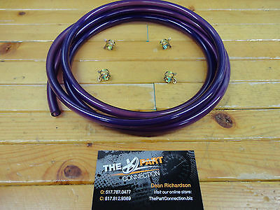 "Translucent Purple 1/4"" Fuel Line Kit Snowmobile Dirt Bike Quad Motorcycle"