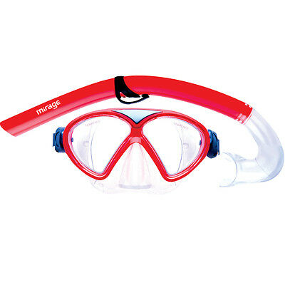 Mirage Comet Kids Mask & Snorkel ONLY Set-05- RED