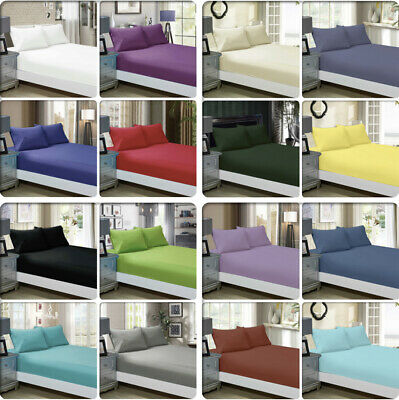 1000TC Ultra SOFT - 3 Pc/2 Pc FITTED Sheet Set(No Flat)Queen/King/Super Size Bed