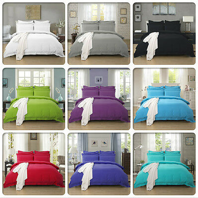 Tailored Duvet/Doona/Quilt Cover Set Singl/Double/Queen/King/Super King Size Bed