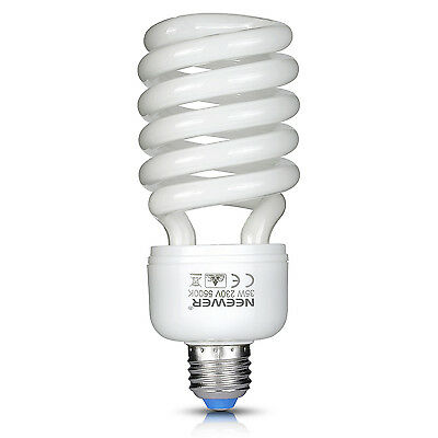 Neewer 35W 220V 5500K Ampoule Tri-phosphore Spirale CFL Daylight Equilibré