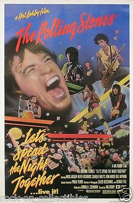 Rolling Stones Original 1982 Let's Spend The Night Together Promo Poster