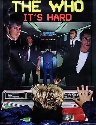The Who 1982 It's Hard Original Promo Poster