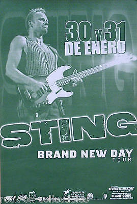 The Police Sting Brand New Day Mexican Concert Poster Original
