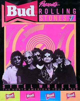 Rolling Stones Steel Wheels Small Tour Poster Original