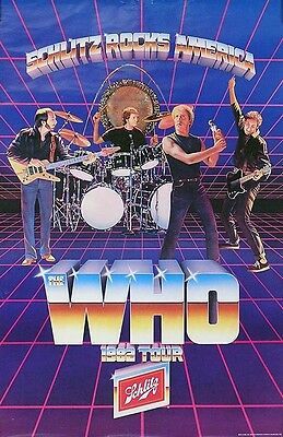 The Who 1982 Tour Original Promo Poster