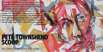 Pete Townshend 1983 Original Scoop Promo Poster
