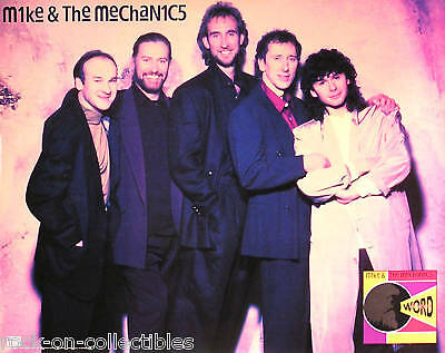 Genesis Mike & The Mechanics 1991 Word Of Mouth Poster Original