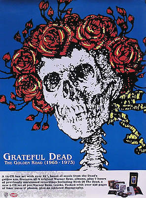 Grateful Dead 2001 The Golden Road 1965-73 Promo Poster Original