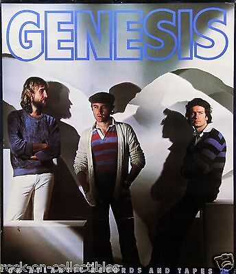 Genesis 1980 's Atlantic Records Original Promo Poster
