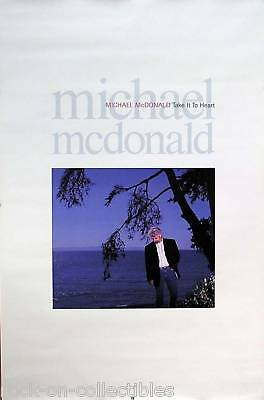 Doobie Brothers Michael Mcdonald 1990 Take It To Heart Original Promo Poster