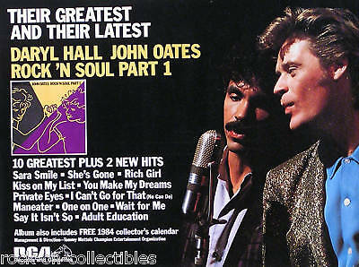 Hall & Oates 1983 Latest & Greatest Promo Poster Original