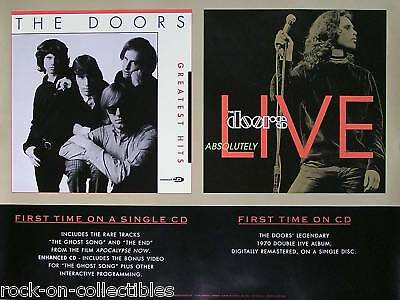 The Doors 1996 Absolutely Live + Greatest Hits Poster Original