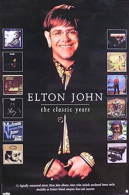 Elton John 1996 Cd Reissue Series Original Promo Poster